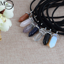 New Style Double Layer Black Velvet Chokers Fashion Punk Geometric Opal Pendants Necklaces For Women Boho Party Jewelry Gift