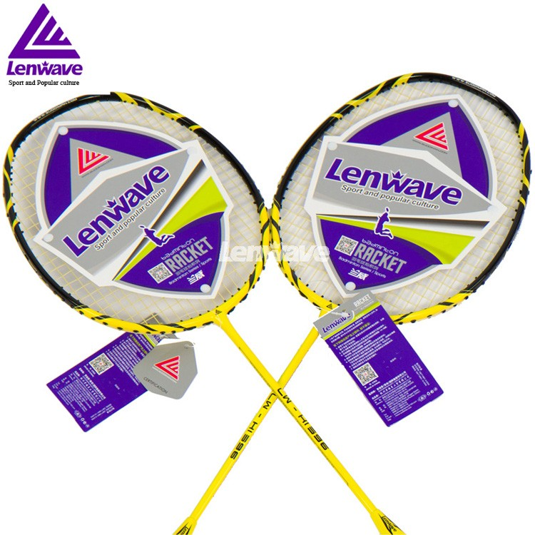 High Quality Carbon Badminton Racket Lenwave Brand Both Offensive And Defensive Racquet Sports Training Fitness Equipment