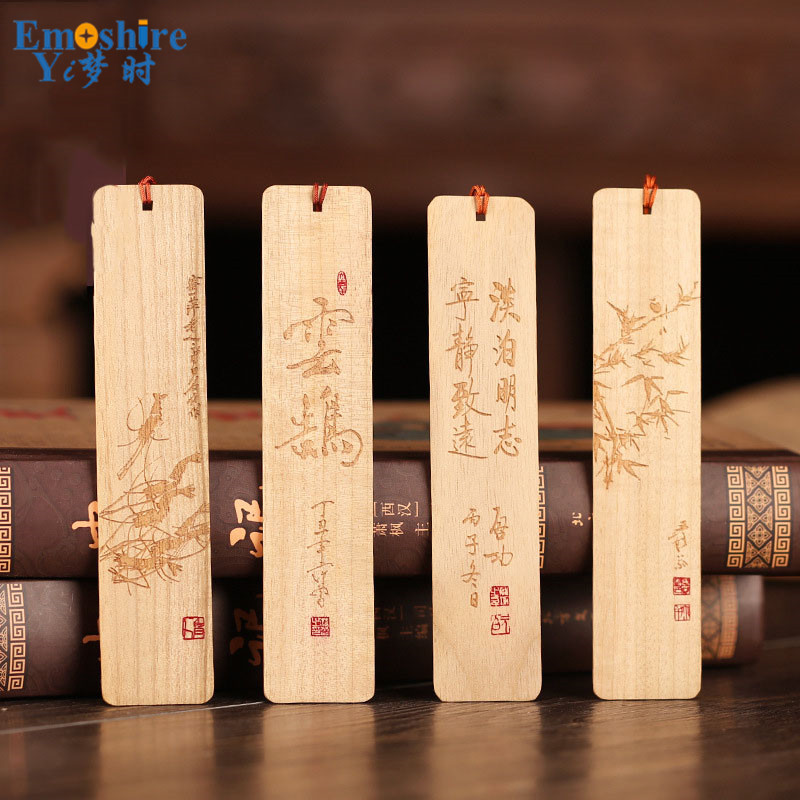 Creative Wooden Bookmarks Custom Logo Retro Wooden Bookmarks Set Business Gifts Stationery Mahogany Bookmarks M011Creative Wooden Bookmarks Custom Logo Retro Wooden Bookmarks Set Business Gifts Stationery Mahogany Bookmarks M011