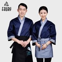 Japanese Kimono Chef Food Service Restaurant Hotel Kitchen Cooking Waiter Korean Cuisine Overalls Sushi Work Uniforms Tops Coat