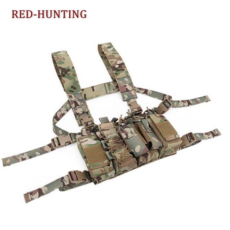 屋外タクティカルベスト戦闘胸リグ軍事キャリア w/多くの種類の Mag ポーチ送料無料  グループ上の スポーツ & エンターテイメント からの 狩猟ベスト の中 3