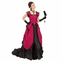 Felicity Silk Bustle Victorian Ensamble Sashes&Lace Dress Suequer Queen Dress Ball Gown Rose Dress Pleated Clothes