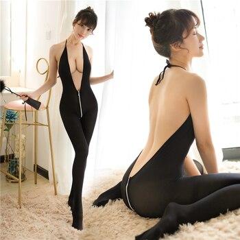 Lencería Sexi de cuerpo entero abierto en la entrepierna de talla grande para Mujer, lencería erótica, disfraces de Porno sensual, lencería erótica de Mujer 10 estilos, Sexi