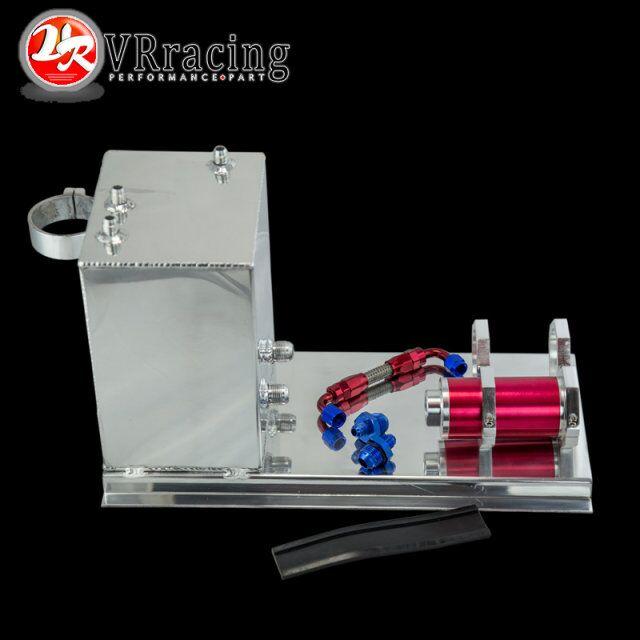 VR-5L טנק surge דלק אלומיניום מירוץ/דלק/דלק/תא דלק 5L מלוטש צינור משאבה + הר + מסנן + אבזרי VR-TK45