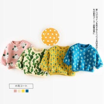 Baby Girls Clothes Full Sleeve Boys T Shirt Tops Tees 6m-3T Fashion Kids Outwear Autumn Winter Fleece Children's Sweatshirt