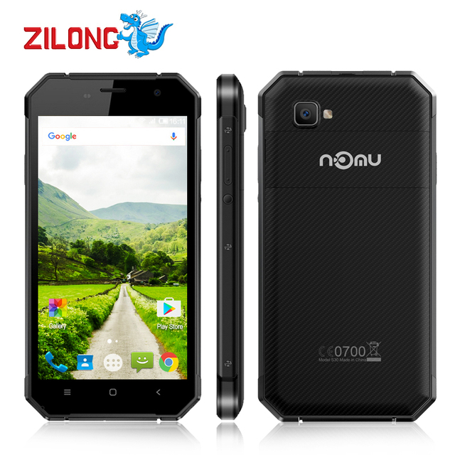 5.5 Inch Nomu S30 4G TLE Smartphone Octa Core 4GB+64GB 5000mAh Mobile Phone Android 6.0 1920x1080 IP68 Waterproof Phone