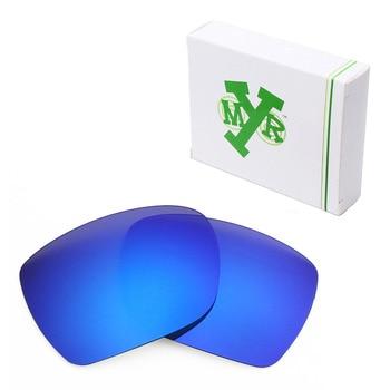 f2f8a5cf7e Mryok anti-Scratch polarizado Objetivos para Oakley desviación Gafas de sol  azul profundo