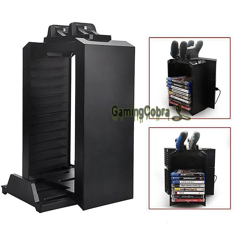 Pour PS4/PS4 Slim/Pro Multifonctionnel Support Amovible Jeu Disque De Stockage Tour