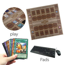 Rubber Play Mat 60x60cm Galaxy Style Competition Pad Playmat For Yu-gi-oh Card game collection card for boys girls gift D4(China)