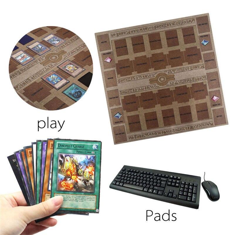 Tapis de jeu en caoutchouc 60x60cm Galaxy Style tapis de compétition tapis de jeu pour yu-gi-oh jeu de cartes carte de collection pour garçons filles cadeau D4