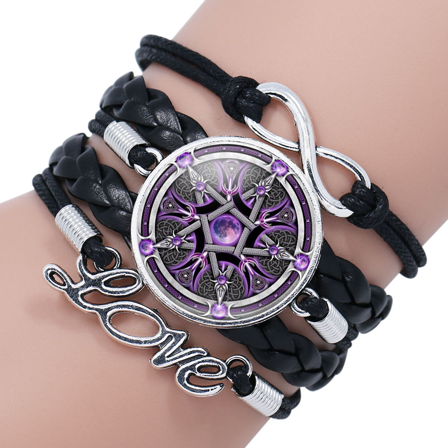 ba9d55406f5 Online Shop NingXiang Black Occult The Inverted Star Signs Inverted  Pentagram Satanic Pentagram Satanic Star Symbols Glass Bracelet Jewelry |  Aliexpress ...
