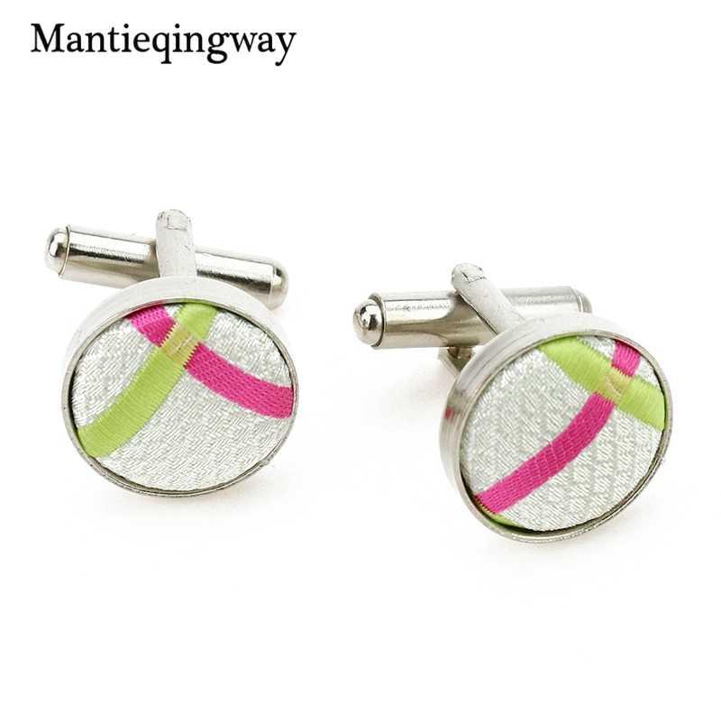 Mantieqingway nouveauté Plaid Jacquard décontracté 8.5cm cravate mariage mouchoir boutons de manchette ensembles pour hommes cadeaux hommes costumes ensemble