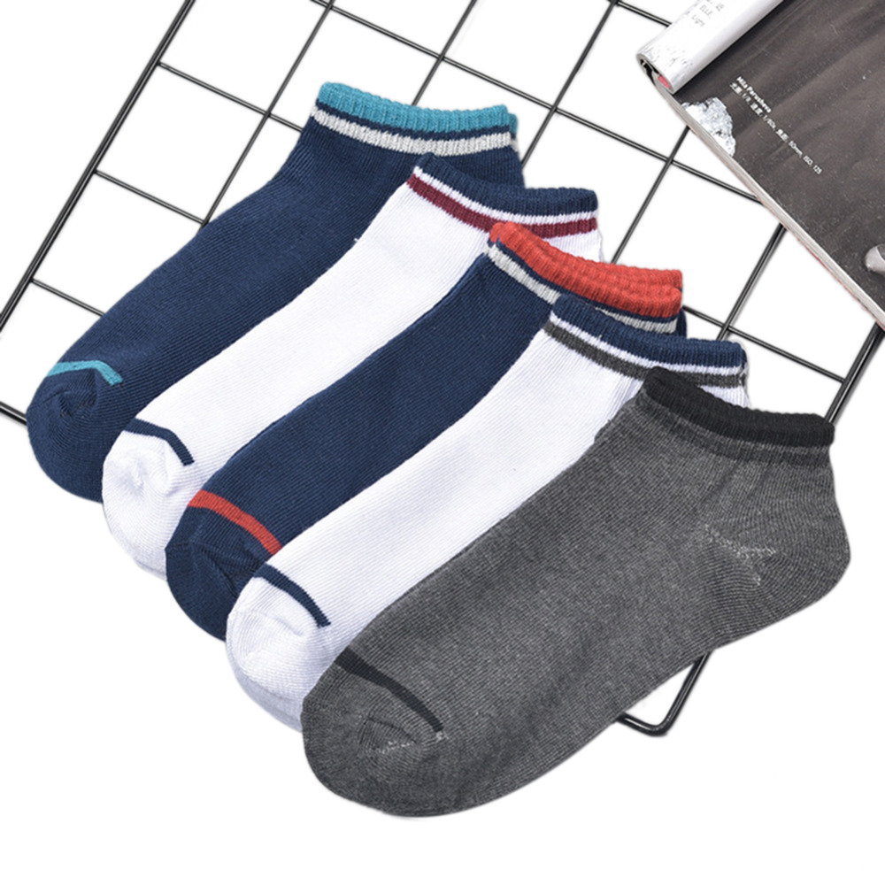 Fashion Simple contrast color Men Socks Casual Breathable Cotton Ankle Socks Meias Calcetines Sokken New Autumn Winter 2018