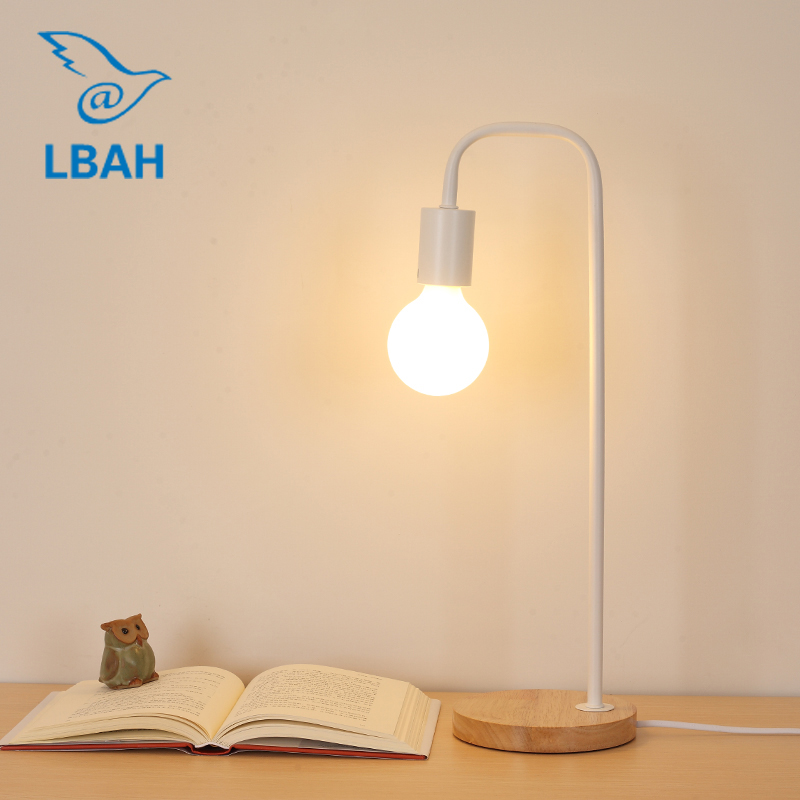 LED Nordic table lamp eye protection desk college students creative simple personality art bedroom bedside lamp reading makeup touch smart bedroom desk bedside lamp led lamp table light small desk lamp college students creative lamp color adjustable 1pc