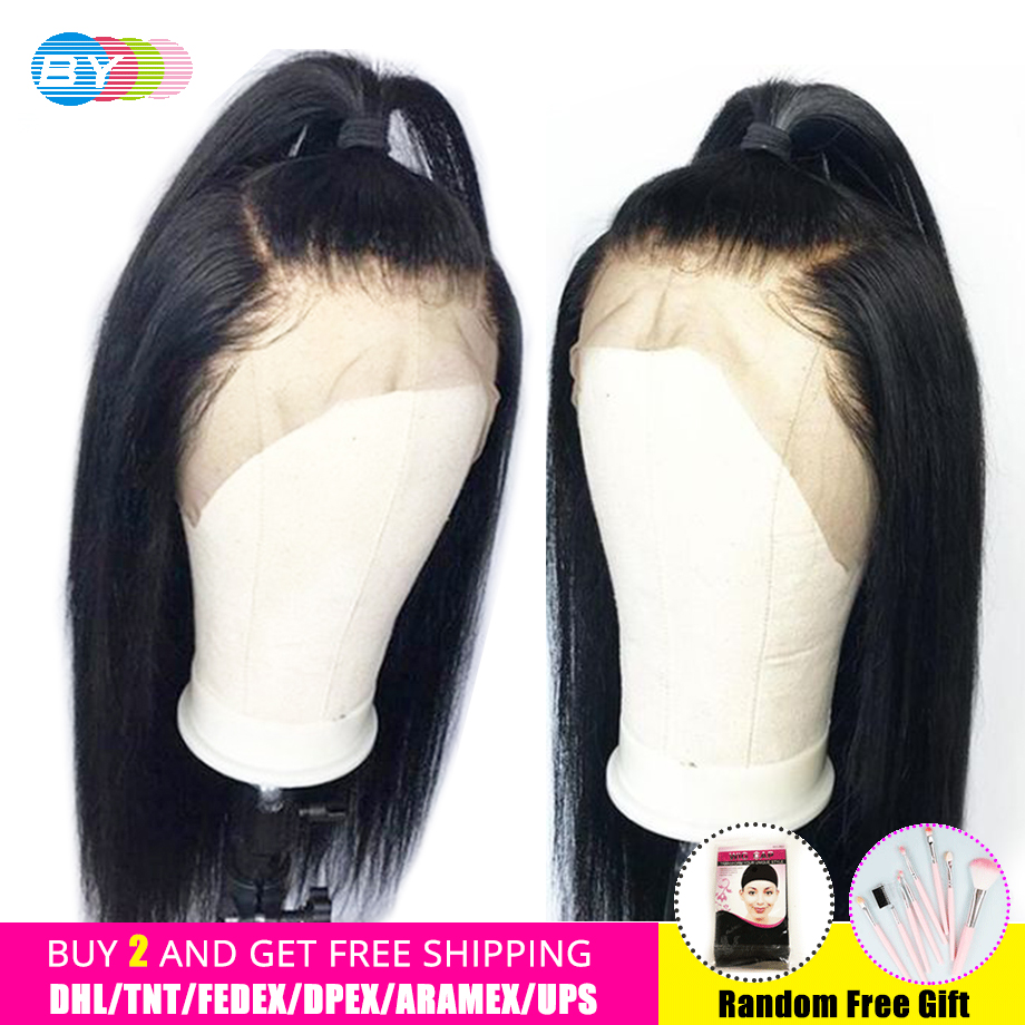 360 Lace Frontal Wig Natural Color Straight HD Lace Front Human Hair Wigs Pre Plucked With Baby Hair Buy 2 And Get BY Hair