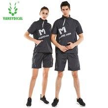 Vansydical Тренажерный зал Бег потливость спортивные костюмы для мужчин и женщин похудеть для похудения сжигания жира фитнес тренировки Спортивных Костюмов