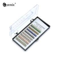 8 Rows Colorful Crystal Stones Fake Eyelashes Glitter Shimmery Individual Eye Lashes Synthetic Eyelash Makeup Tools
