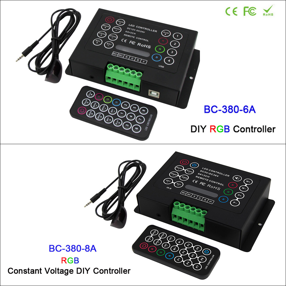 3CH Led RGB strip Controller DC12V-24V 6A*3CH / 8A*3CH CV DIY Controller with Wireless remote for 5050 3528 RGB led strip light dc12v 24v led rgb rgbw amplifier aluminum 24a 3ch 4ch led controller for 5050 3528 led strip light tape power repeater console