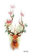 Elk Fairy Tale Deer Fresh Waterproof Temporary Tattoos Stickers Fashion Body Arm Tattoo Art Tattoos Tattoos Sticker