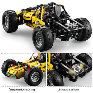 Image 5 - 522 stücke 2,4 Ghz Technic RC Alle Gelände Off Road Klettern Lkw Auto Off Road Racing Bausteine ziegel Kinder Spielzeug