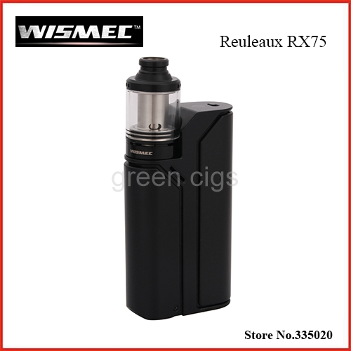Original Wismec Reuleaux RX75 Starter Kit with TC 75W Reuleaux RX75 Box Mod and 2ml Amor Mini Atomizer Reuleaux RX75 Mod/Kit original smy 75w mini tc box mod