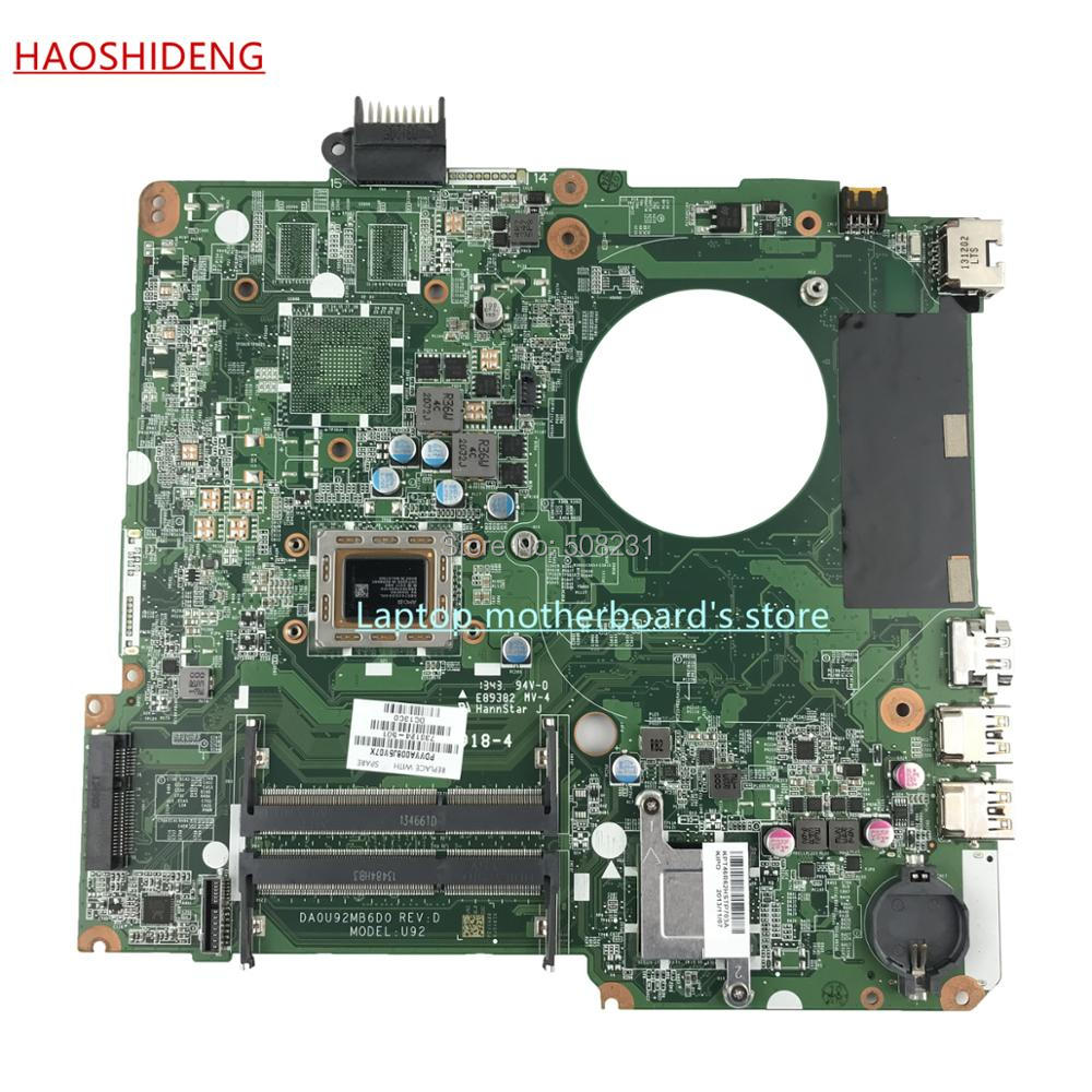 HAOSHIDENG 738124-501 738124-001 U92 DA0U92MB6D0 REV:D for HP HP PAVILION 15-N motherboard with A76M A10-5745M,fully Tested 722204 501 722204 001 for hp pavilion 15 e 14 e motherboard a6 5200m tested working