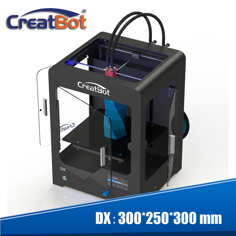 Free shipping! DX Dual Extruder 3d printer Build Size 300*250*300 mm - Office Electronics