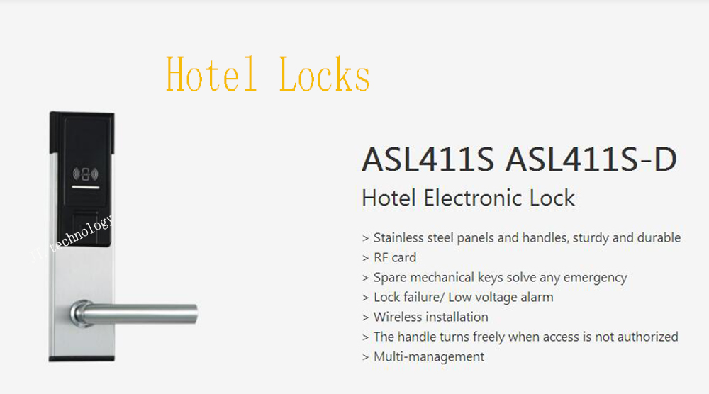 DAHUA Intelligent Building Smart Lock Stainless Steel Panels Wireless Installation Hotel Electronic Lock Without Logo ASL411S