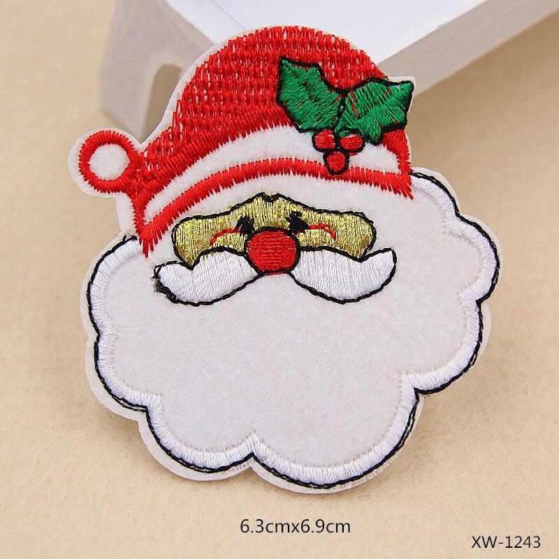 Navidad árbol Santa Claus parche para la ropa sombrero Zapatos ...