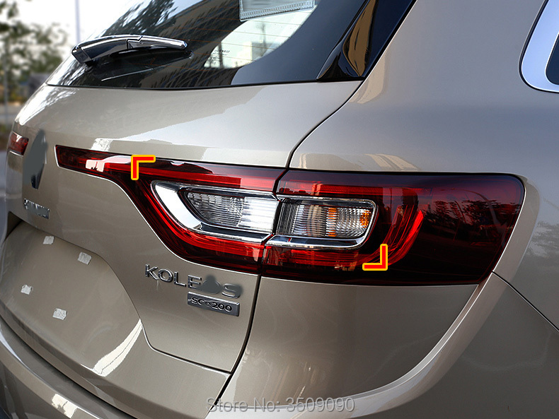 Pour Renault Koleos 2016 2017 Arrière Lumière Couvercle De La Lampe Car Styling 4 Pcs/ensemble