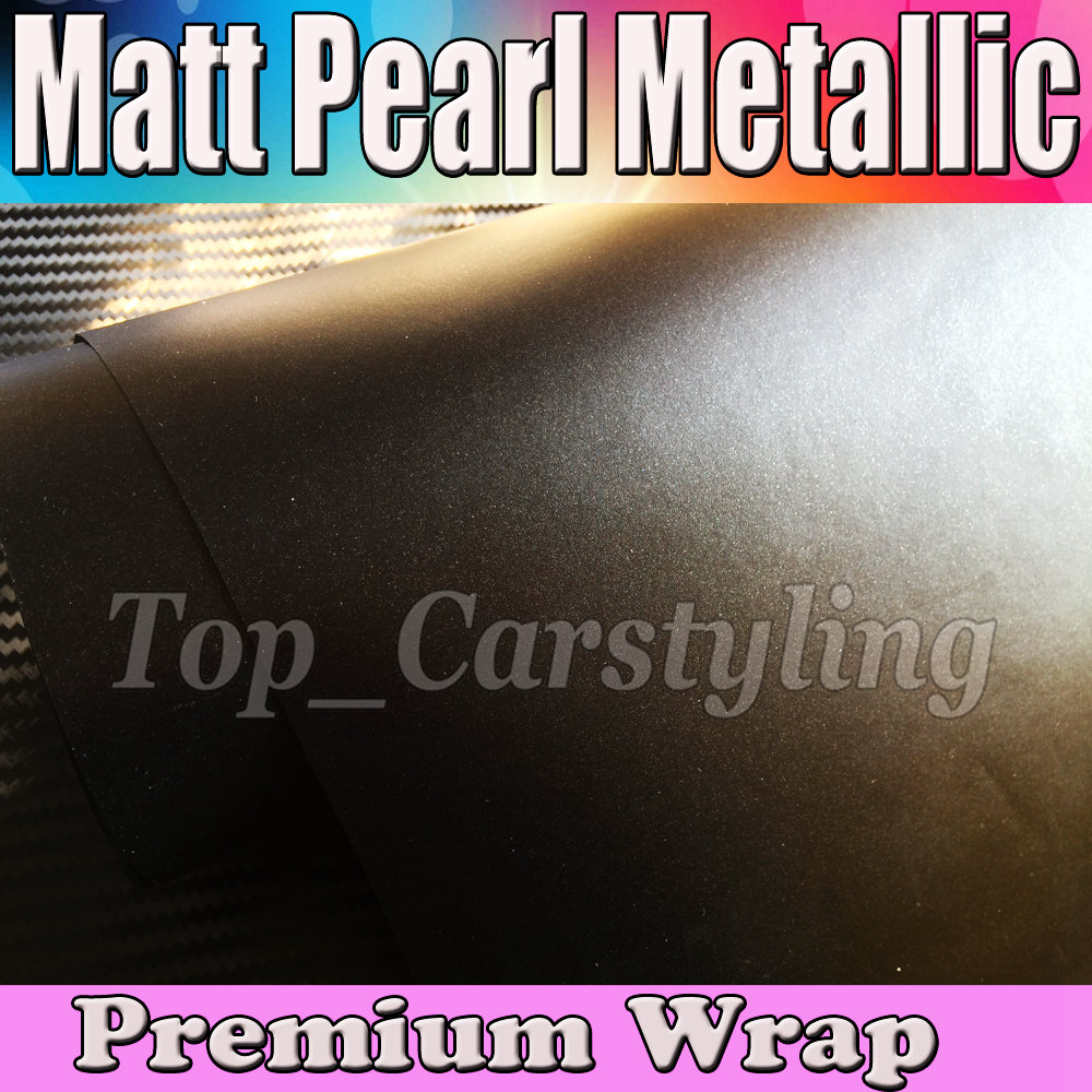 Black Matte Metallic Vinyl Wrap For Car Wrap Styling Film With Air Release Pearl Black Vinyl Film cast Foil 1.52x20m/Roll