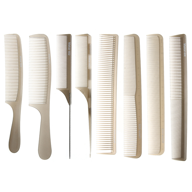 Professional Hair Salon Haircut Combs Plastic Mixed Type Dense Sp Anti Static Styling Section