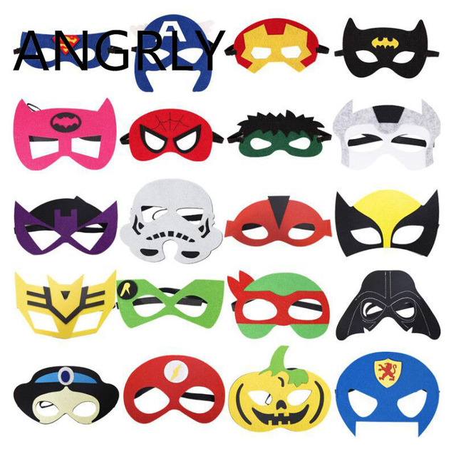 Angrly 5p children 39 s day superman mask iron man mask - Masque superman ...