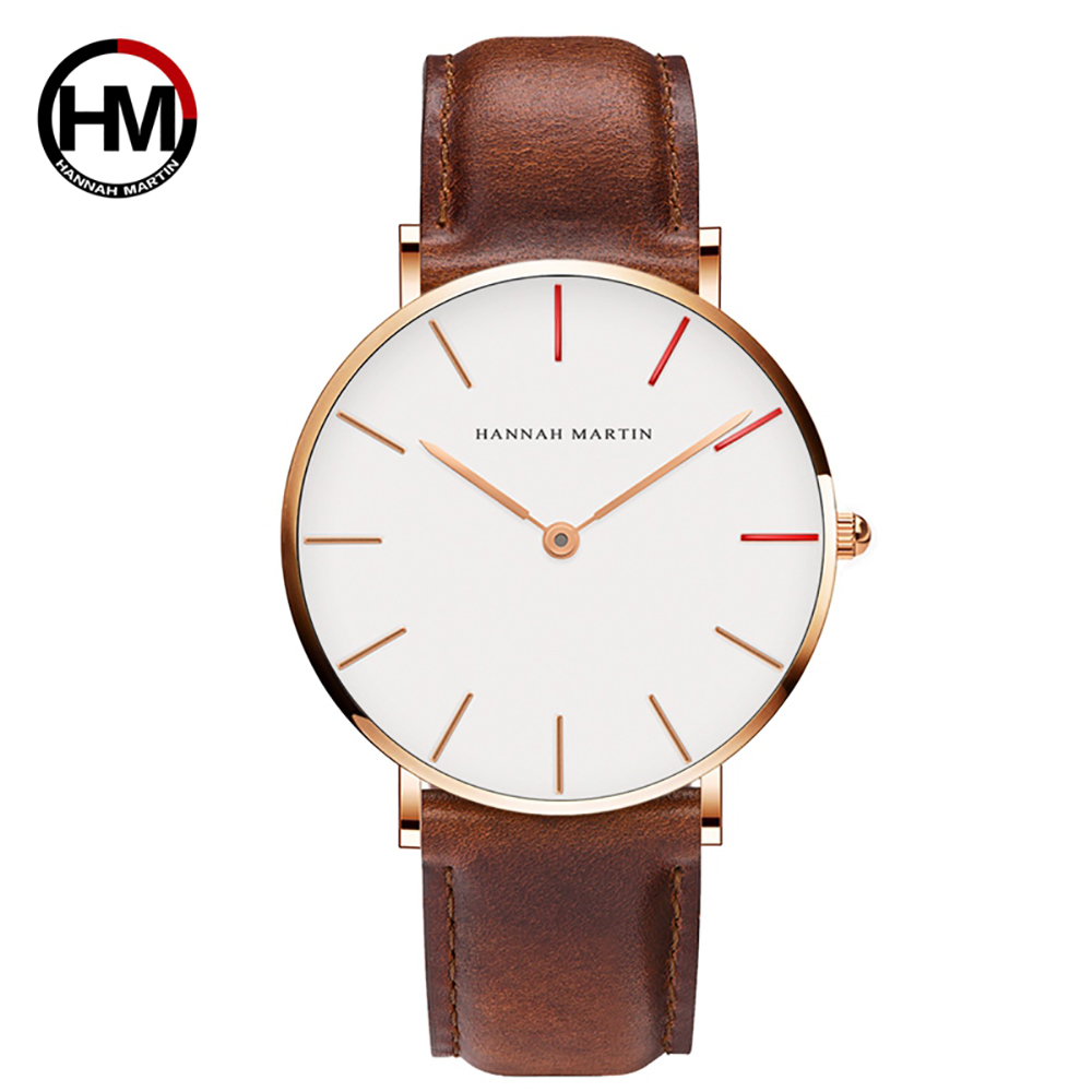 Top Luxury Brand Män Kvinnor Armbandsur Japan Quartz Simple Leather - Herrklockor - Foto 1