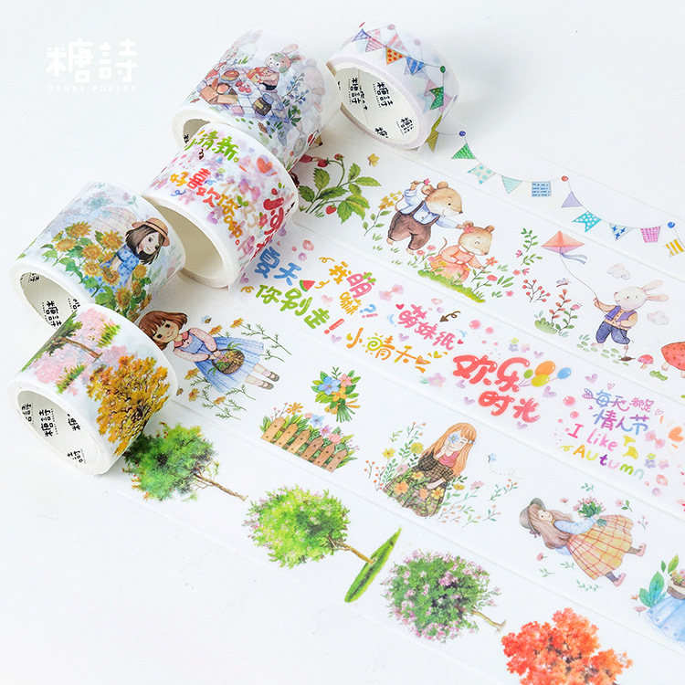 Spring Picnic Washi Tape Decorative Adhesive Tape Diy Decor Scrapbooking Sticker Label Stationery