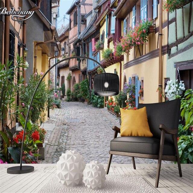 Beibehang Benutzerdefinierte Tapete Dekoration Europaischen Stadt Strasse Wohnzimmer Hintergrund Wallpaper Fur Wande 3 D