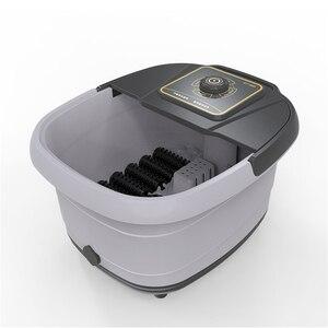 Image 4 - 自動赤外線電気 12 足マッサージローラー加熱されたマシン足ケア装置バレルスパバス治療ローラー脚マッサージ