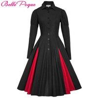 Belle Poque 2018 Medieval Dress Womens Autumn Cotton Long Sleeve Victorian Gothic Vintage 50s 60s Comfortable Renaissance Dress