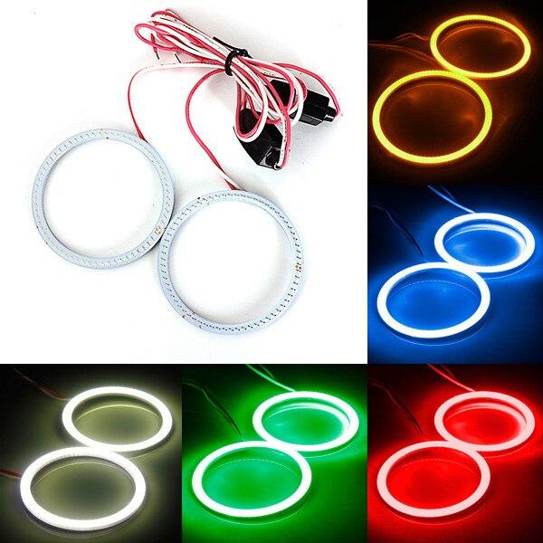 New 2x 60MM 66LED COB Bulb Angel Eyes CCFL Headlight Halo Ring Lamp Light 12/24V автоинструменты new design autocom cdp 2014 2 3in1 led ds150