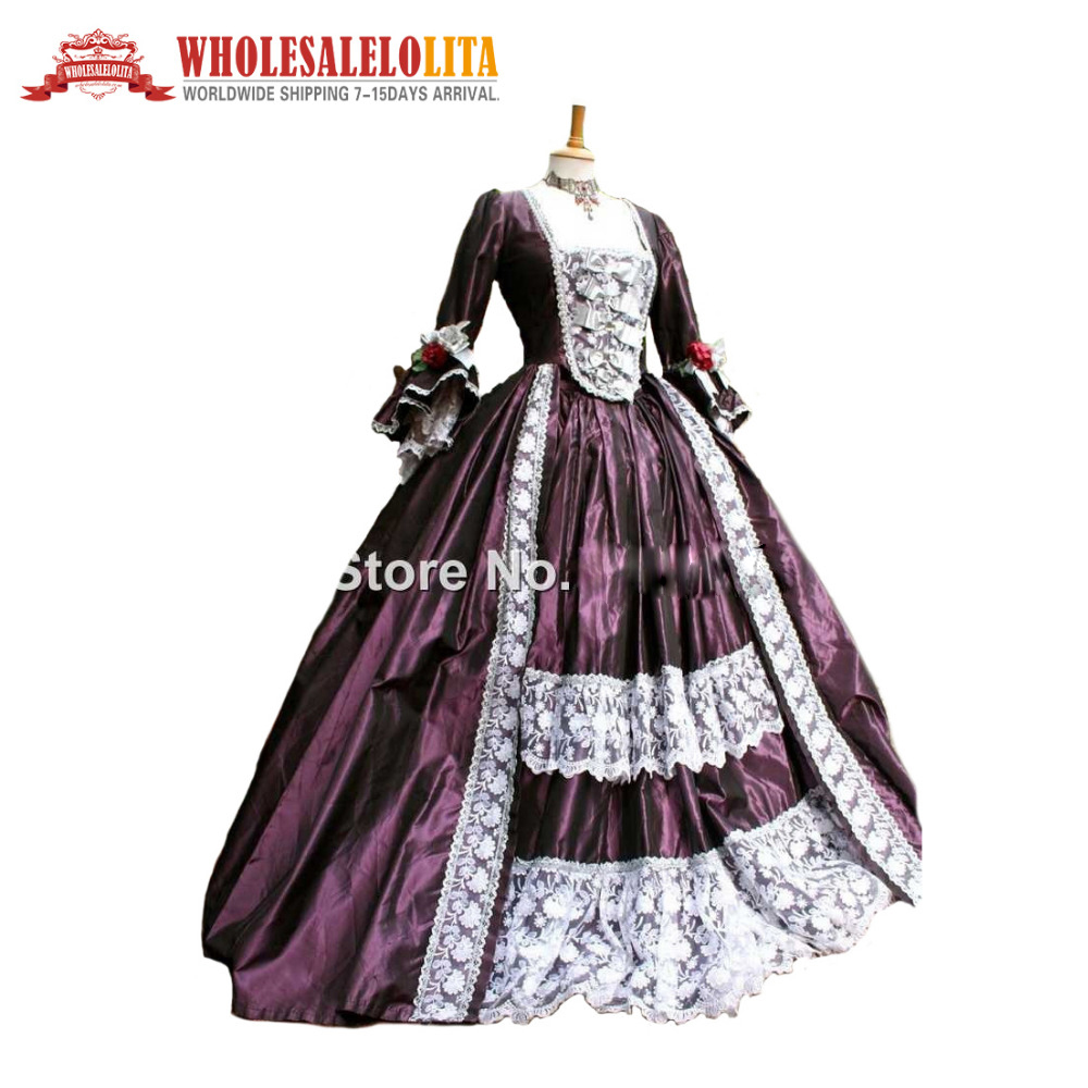 Home Strong-Willed 18th Century Historical Stage Costume Ball Gown Long Sleeve Halloween Belle Ball Gown Halloween Costumes Dress For Women