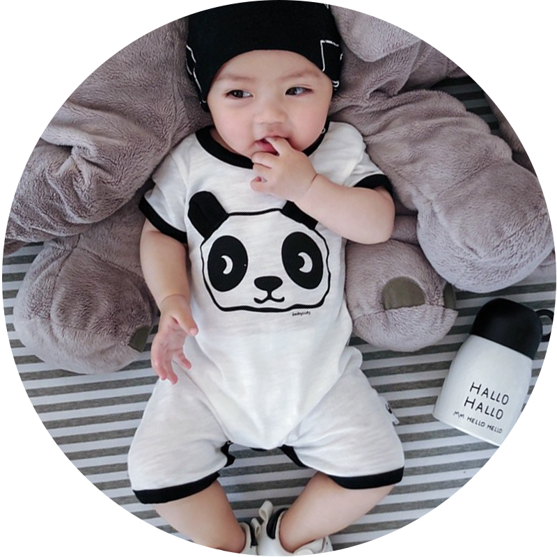 0 24 months panda baby boy clothes short sleeve summer baby romper cartoon newborn clothes