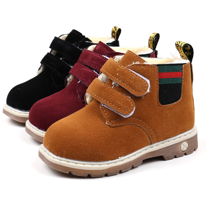 2017 Winter Children Outdoor Boots Baby Girls Boys Snow Boots Infant Plush Boots Casual  ...