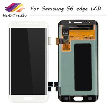 1 PCS 100% Originale S6 bordo Dello Schermo A CRISTALLI LIQUIDI Per Samsung Galaxy S6 Bordo G925F Display LCD Touch Screen Digitizer Assembly trasporto Libero