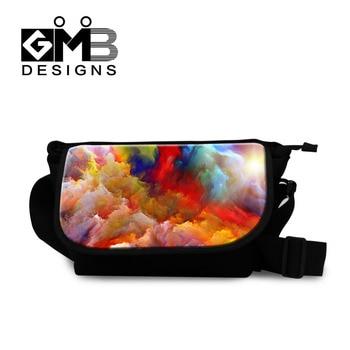 489215f1ab9f Новый бренд холст Курьерские сумки FOW Для женщин Испании красочным принтом  сумки большой Ёмкость мужская сумка Обувь для девочек Сумка