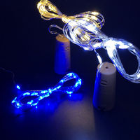 20pcs 2M 20LED lamp Cork Shaped Bottle Stopper Light Glass Wine LED String Lights For Bar Xmas Wedding Home Decoration 9 Colors