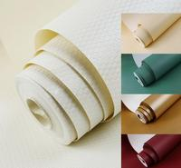 Faux Leather Gold Embossed Modern Textured Wallpaper Roll Vinyl Papel Decorativo De Pared For Living Room