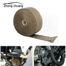 10M 15M hot exhaust with pipe wrapped head heat-resistant cloth for motorcycle system fixed belt heat