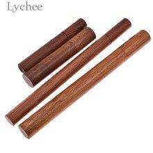 Lychee 1 Uds palo de palisandro Vintage tubo de incienso soporte de incienso barril de almacenamiento decoración del hogar