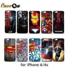Marvel Avengers Spider man Dark Knight Hard Case Cover for iPhone 6 6s Batman Superman S logo  Captain America Shield 10 Designs