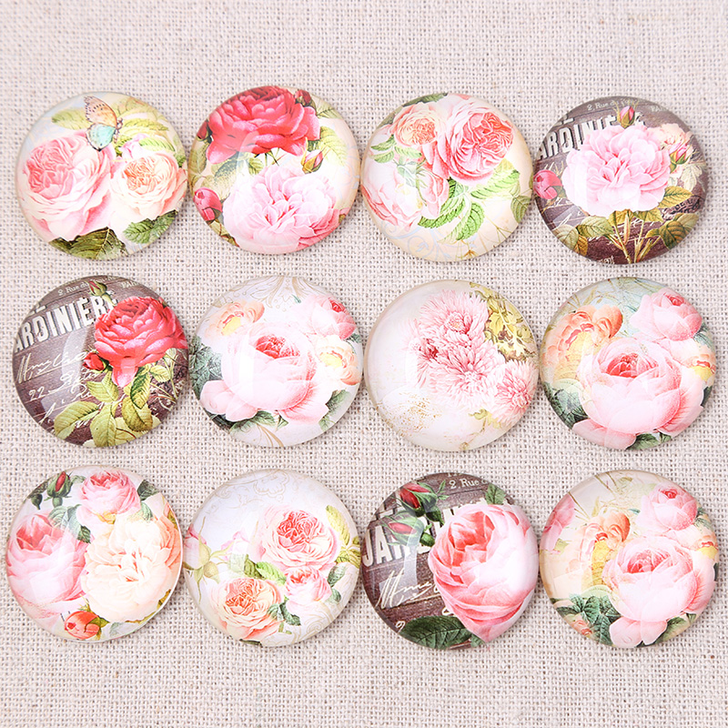 onwear mix rose photo round dome glass cabochons 25mm 16mm 12mm 30mm diy handmade jewelry findings for pendant necklaceonwear mix rose photo round dome glass cabochons 25mm 16mm 12mm 30mm diy handmade jewelry findings for pendant necklace